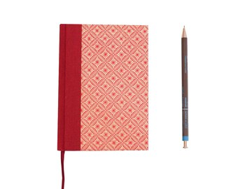 Daily Planner 2022 Java flower red, calendar book, hardcover planner, red daily diary A6,  Lotus flower, gift idea for Yoginis, organize