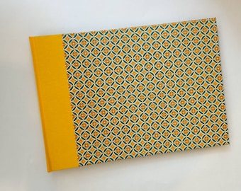 Photo Album XL retro Lotus yellow teal with black pages