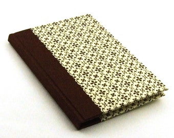 Paper Address Book brown graphic star, telephone directory