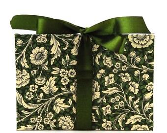 Zigzag- Photo- Album green Renaissance Flower Accordion Book