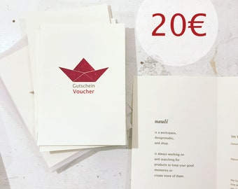 Gift Voucher for Nauli as last minute gift to print PDF on your own