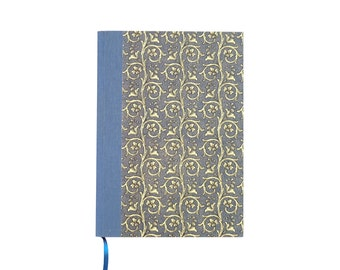 blue hardcover notebook, A5 blank writing journal