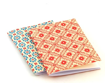 2 pocket size cahier with Italian patterned paper