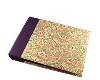 Purple Photo Album, wild flower meadow Wedding Album or Guest Book