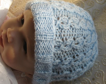 Baby KNITTING PATTERN - Baby Blue Mock Cable Knit Hat - 0 to 3 months and  child sizes 97267de33dd