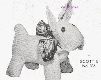 Knitting Pattern - Scottie Dog Plush/Plushie Stuffed Dog Toy