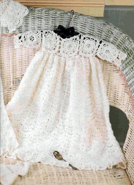 BABY häkeln Muster irische Rose Taufe/Taufe Set Kleid | Etsy