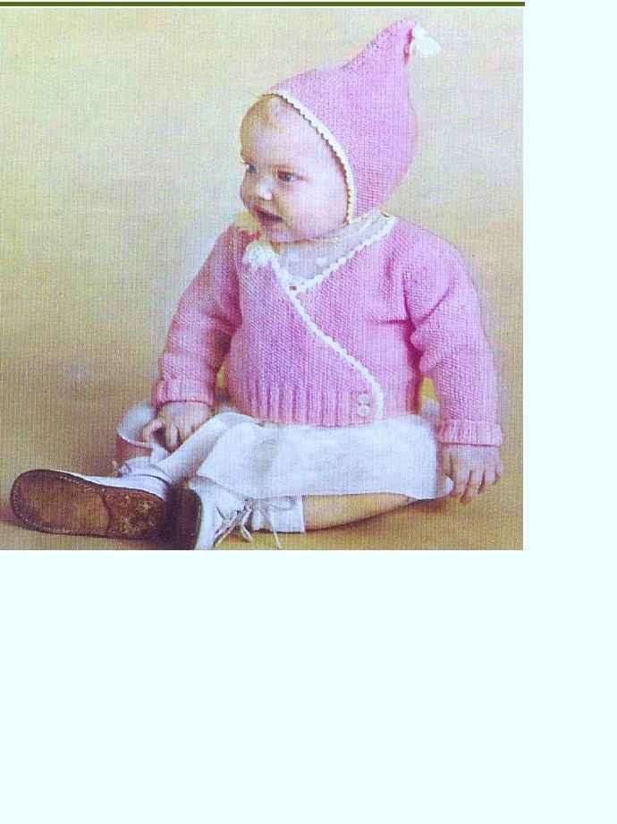 d54c7248d NEARLY FREE Baby Knitting PATTERN Wrapover Crossover