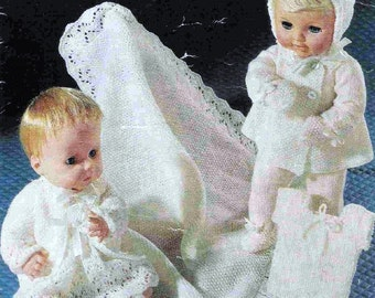 Doll Knitting PATTERN for Baby doll/Baby  - 14 and 16 inch FULL Layette