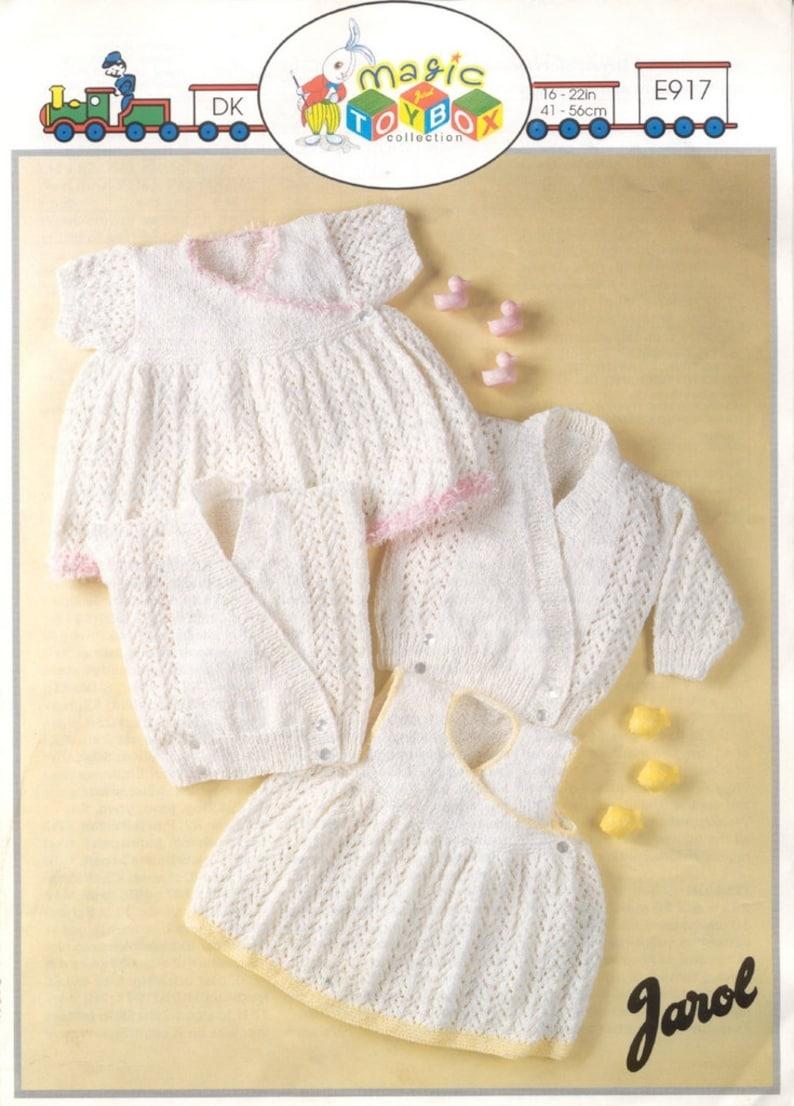 0e428b8a32f9cd BABY KNITTING PATTERN Short sleeved dress sleeveless