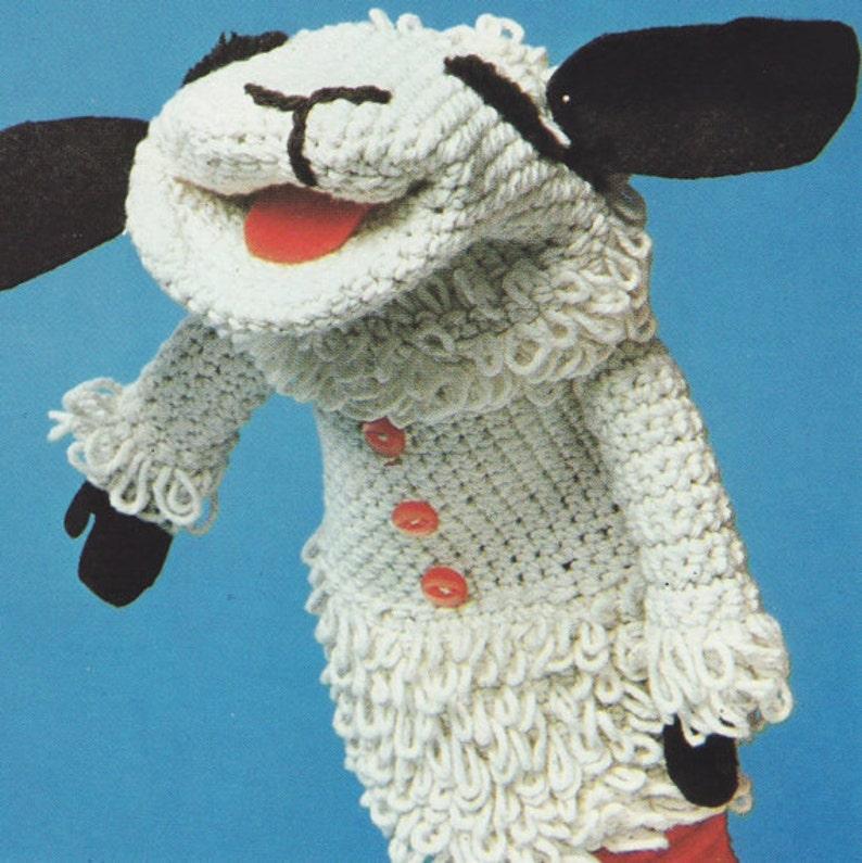 SALE Lamb Chop Glove Puppet Knitting and Crochet Pattern ...