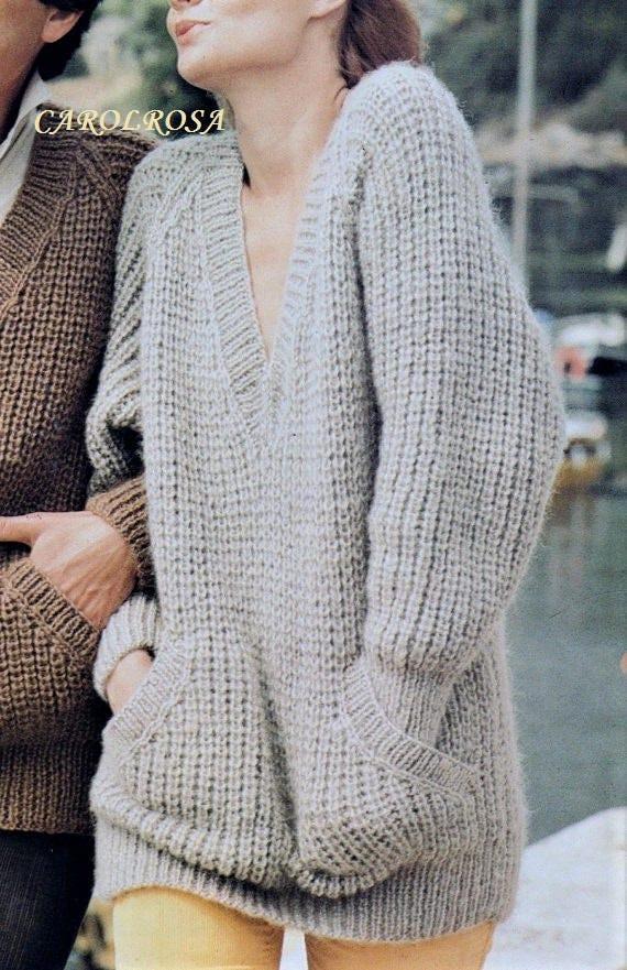 ca384aff7b664 Instant Download PDF Knitting Pattern Ladies or Mens SLOPPY | Etsy