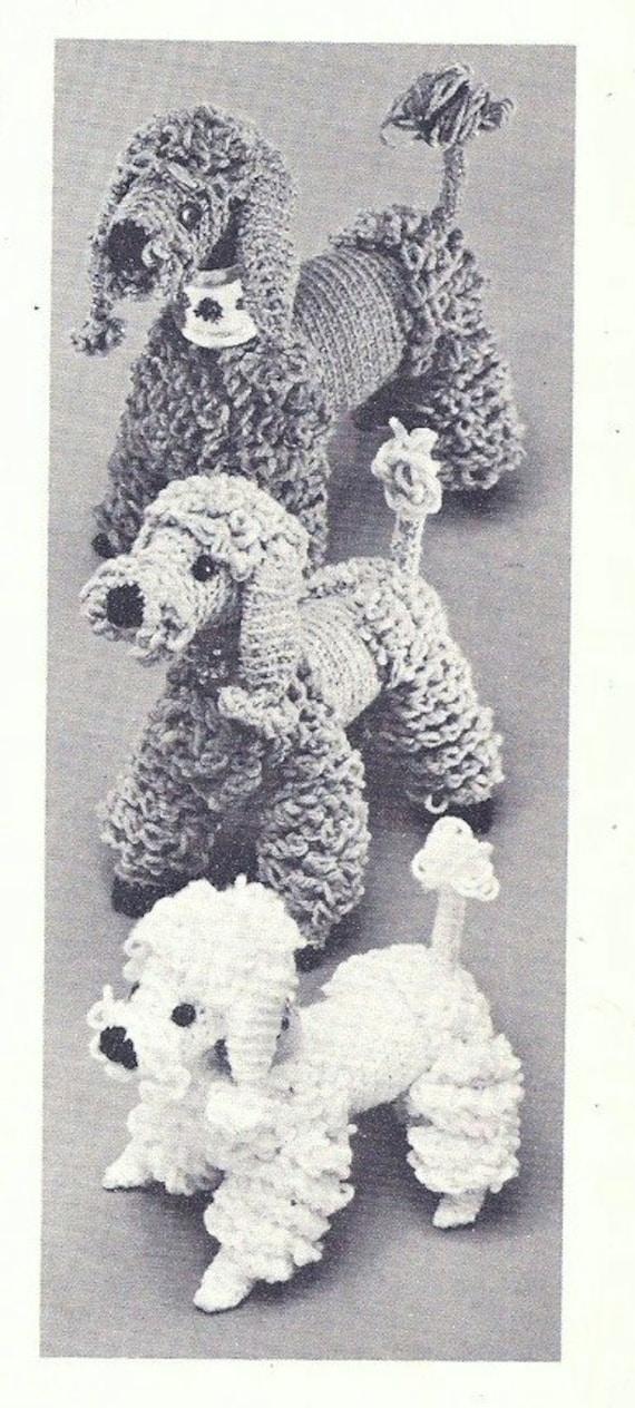 Vintage Crochet pattern Poodle family Papa Maman Bebe | Etsy