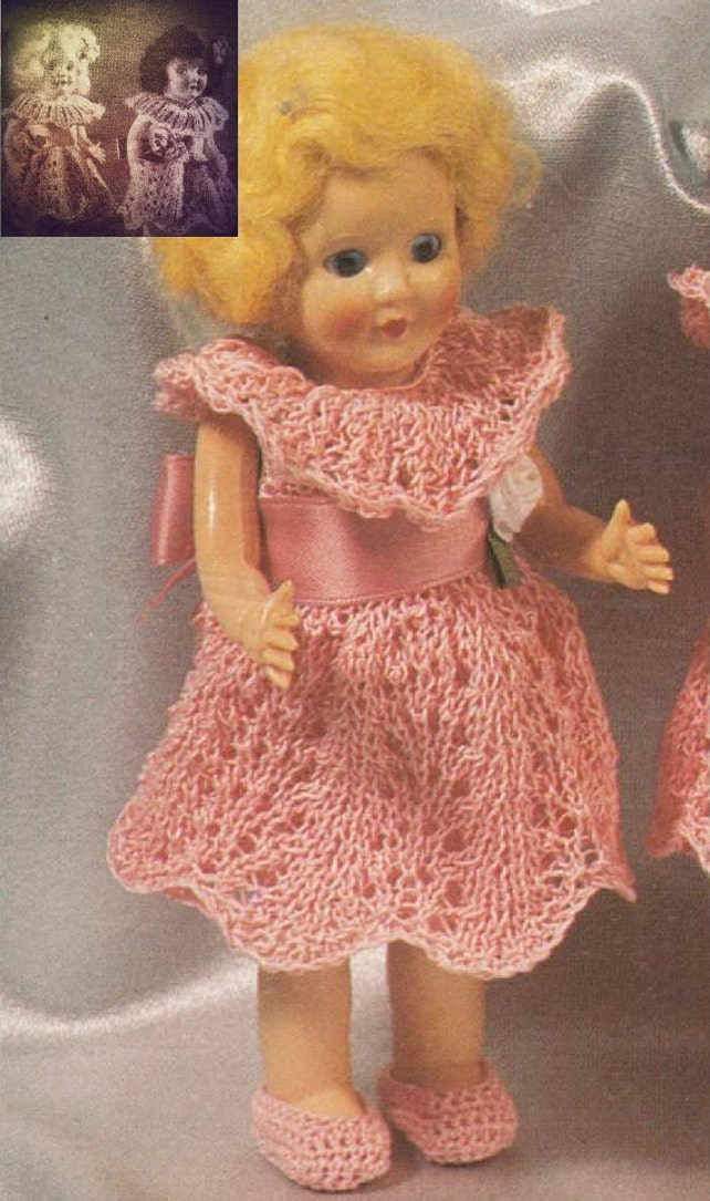 Knitting Pattern For Rosebud Twin Dolls Or Other 65 Inch Tall Etsy