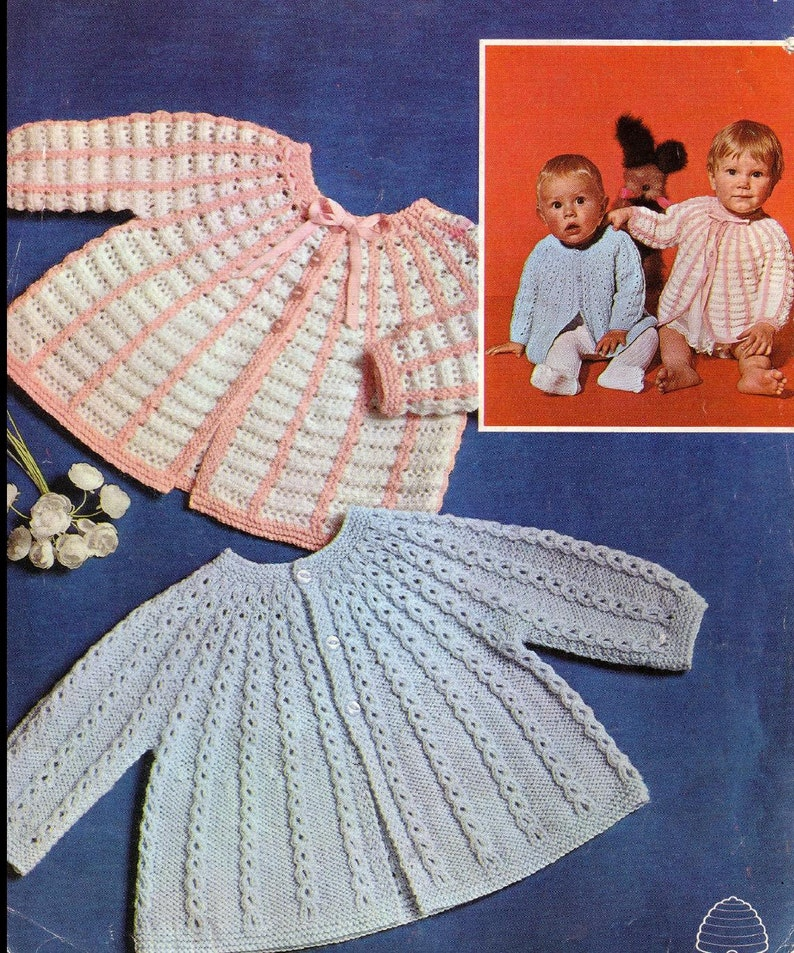 63f6baf4ac42 PDF Download Baby Knitting Pattern 2 Matinee coats