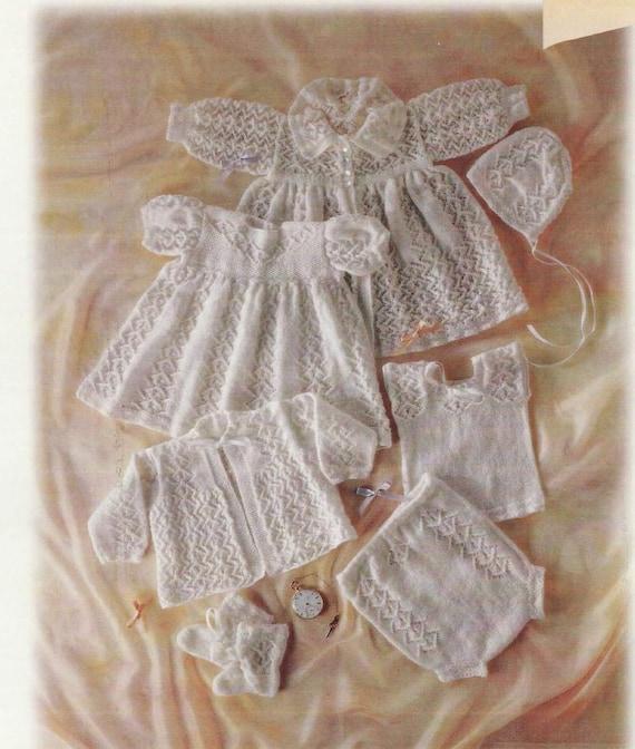 Baby Knitting PATTERN Nostalgic Heirloom Layette Carrying | Etsy