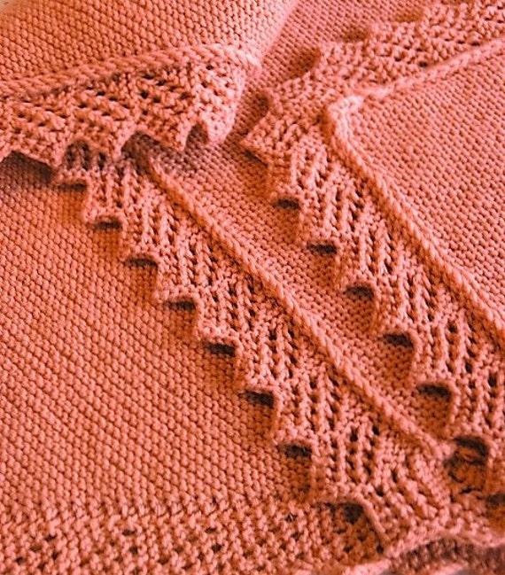 Knitting PATTERN Easy Baby Decke/afghanisch/Schal mit   Etsy