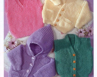 Knitting PATTERN  Baby/Child - Cardigans, Sweaters, Slipover Tunic, Waistcoat DOWNLOAD