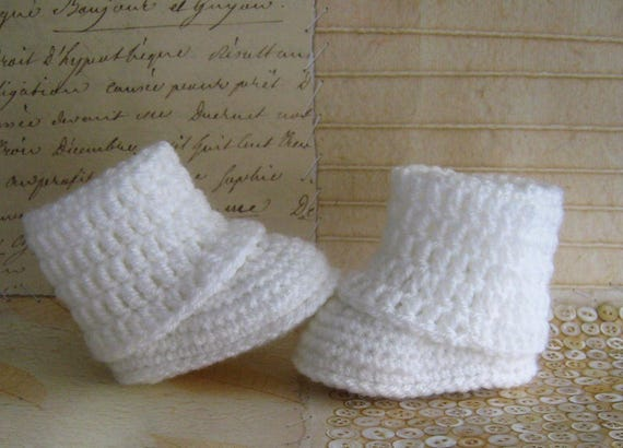 BABYcrochet pattern irish rose booties size 0//3m thread crochet 10