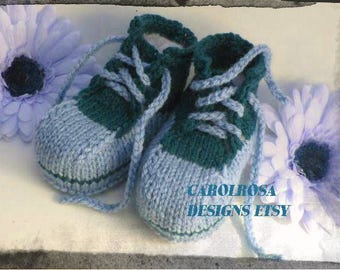 Knitting PATTERN - Baby Combat Boots/Converse/Sneakers/Trainers/Booties - Easy Knit