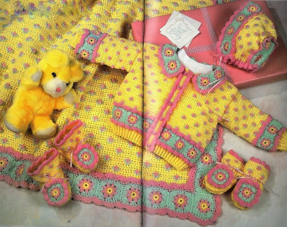 Häkeln Sie Muster häkeln Babyausstattung für Baby Decke | Etsy