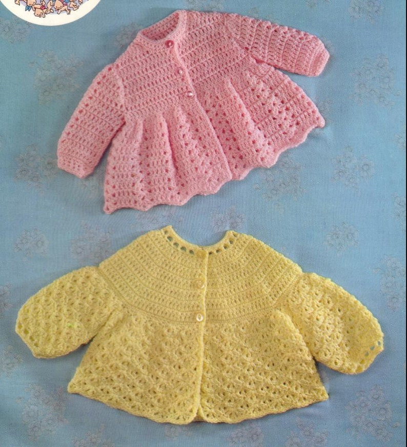 bb2242c9ece2 CROCHET PATTERN Vintage pattern for Baby Matinee Jackets