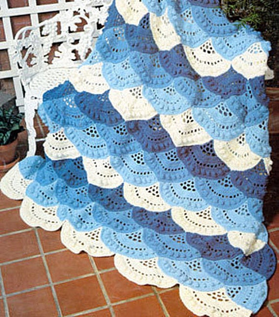 Sale Crochet Pattern For Pretty Layered And Scalloped Etsy
