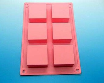 Tray mold, 6 cavities, silicone mold