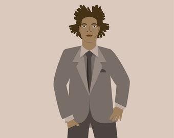 Basquiat Print, Different Sizes, Artist Poster, Jean Michel Basquiat Artwork, Painter, Modern art, Gift for Her, Gifts For Men, Artist, art
