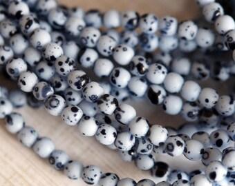 4mm Round Druk Beads - Robin's Egg Blue Beads - Czech Glass Druk - Baby Blue - Premium Czech Glass Beads