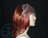 Birdcage Veil Bandeau Veil Style With Rhinestone Combs
