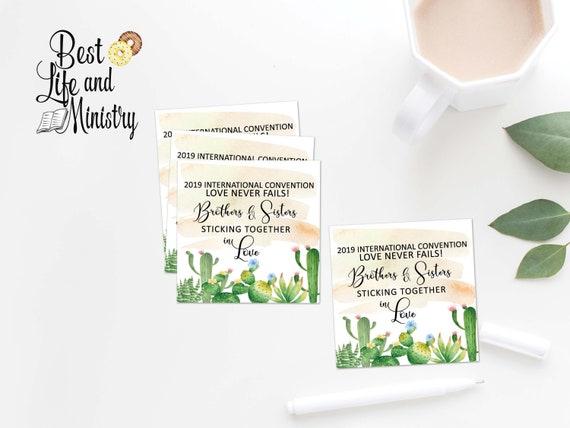JW convention gift tags | jwprintable gift | Phoenix International |Cactus  gift tags | jw stuff