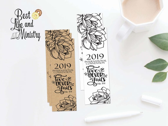 JW Printable Love Never Fails Convention | International Convention Gift |  JW Gifts | JW 2019
