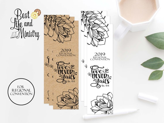 JW Printable Love Never Fails Convention |Regional Gift | JW Gifts | JW 2019