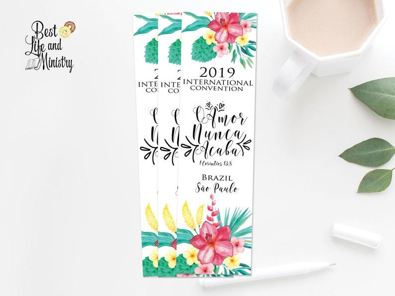 JW Printable Love Never Fails Convention   Brazil International Convention    JW Gifts   JW Brazil 2019