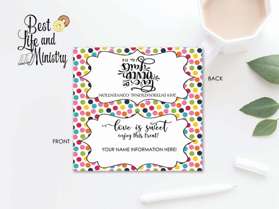 JW Gifts | 2019 International Convention | Candy Bag Topper | JW Gift  Labels | Editable Label
