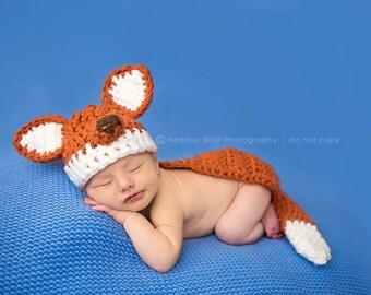 8492c2c21d1 Newborn fox hat