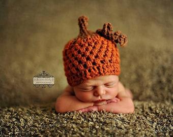 Baby boy hat baby girl hat crochet pumpkin hat pumpkin  ceb4270d4a1
