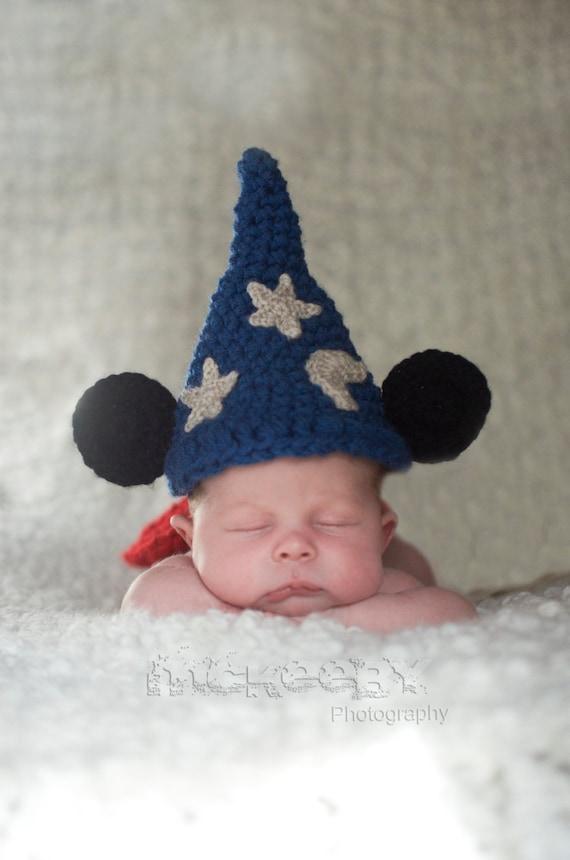Baby Junge Hut Baby Mädchen Hut häkeln Zauberer Maus | Etsy