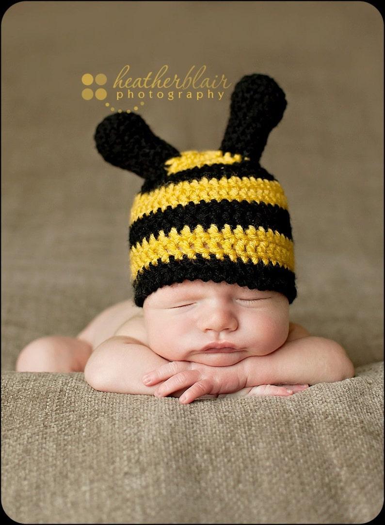 d4af62844ba Baby boys hat baby girls hat bee hat newborn bee hat photo