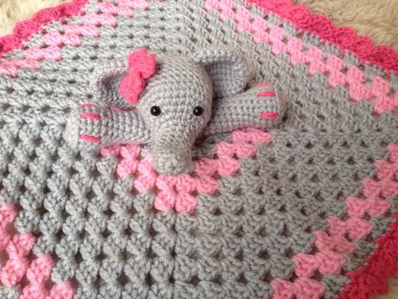 Häkeln Sie Elefant Lovey Schmusetuch Baby Dusche Geschenk Etsy