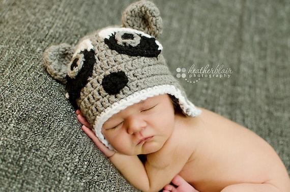 Baby jungen Hüte Baby Mädchen Hüte Waschbär-Hut Neugeborene | Etsy