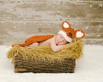 Baby boy hat, baby girl hat, fox hat, fox, crochet fox, photo prop, baby shower gift, crochet newborn fox, baby fox set, fox nursery