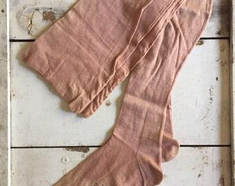 NOS hoisery 1930's/40's era stockings biege