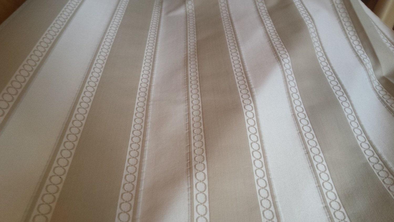 Railroaded Stripe Ivory Beige Tone On Tone Upholstery Fabric Etsy