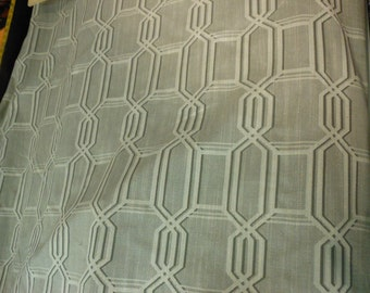 TAUPE IVORY Woven Geometric Upholstery Fabric by the yard , 08-14-23-0613