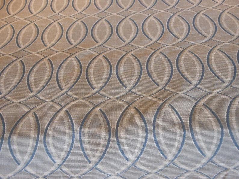 ELLIPTICAL grey blue cream GEOMETRIC CONTEMPORARY 2.5 yrd 22-14-23-0913 woven upholstery fabric home decor pc