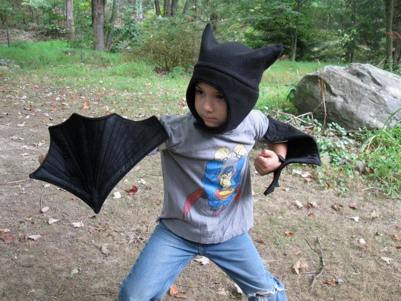 Black Bat Wings /& Hat set
