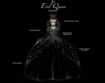 Evil Queen or Ravena Regina Halloween Costume from Snow White or Once Upon a time