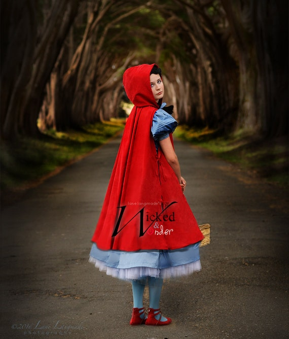 Into The Woods Costume Little Red Riding Hood Costume Luxe Etsy